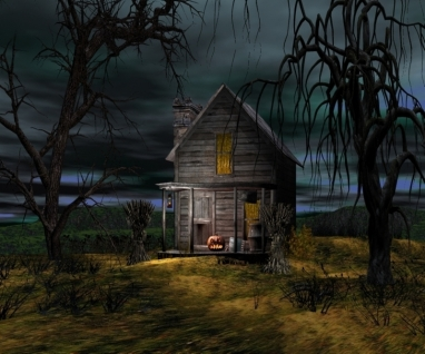 Haunted Cabin Pumpkin